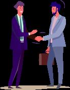 vector illustration of a men shaking hands